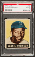 Baseball Cards:Singles (1940-1949), 1948 Leaf Jackie Robinson #79 PSA Good 2....