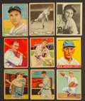 Baseball Cards:Lots, 1933-1941 Goudey, National Chicle & Play Ball Baseball HoFersCollection (9). ...