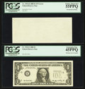 Error Notes:Error Group Lots, Fr. 1932-E $1 2006 Federal Reserve Note. PCGS Extremely Fine45PPQ;. Fr. 1934-K $1 2009 Federal Reserve Note. PCGS ChoiceAbou... (Total: 2 notes)