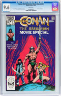 Modern Age (1980-Present):Miscellaneous, Conan the Barbarian Movie Special #1 (Marvel, 1982) CGC NM+ 9.6 White pages....