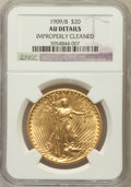 Saint-Gaudens Double Eagles: , 1909/8 $20 -- Improperly Cleaned -- NGC Details. AU. NGC Census:(15/1512). PCGS Population (58/1939). Numismedia Wsl....