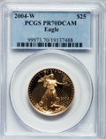 Modern Bullion Coins, 2004-W $25 Half-Ounce Gold Eagle PR70 Deep Cameo PCGS. PCGSPopulation (182). NGC Census: (693). Numismedia Wsl. Price for...