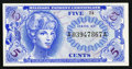 Military Payment Certificates:Series 651, Series 651 5¢ Choice New.. ...