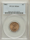 Indian Cents: , 1862 1C MS64 PCGS. PCGS Population (614/295). NGC Census:(509/216). Mintage: 28,075,000. Numismedia Wsl. Price forproblem...