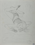 Art:Illustration Art - Mainstream, Garth Williams, illustrator. Original Preliminary Pencil Artwork for a Character in Beneath a Blue Umbrella, pag...