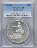Trade Dollars, 1875-S T$1 Chop Mark AU58 PCGS. PCGS Population (33/77). NGCCensus: (0/0). ...