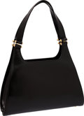 Luxury Accessories:Bags, Judith Leiber Black Leather Tote Bag. ...