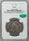 Bust Half Dollars: , 1813 50C XF45 NGC. CAC. NGC Census: (68/555). PCGS Population(75/321). Mintage: 1,241,903. Numismedia Wsl. Price for probl...