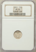 Three Cent Silver: , 1857 3CS MS65 NGC. NGC Census: (35/15). PCGS Population (29/7).Mintage: 1,042,000. Numismedia Wsl. Price for problem free ...