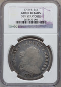 Early Dollars, 1799/8 $1 13 Stars Reverse -- Obverse Scratched -- NGC Details.Good. PCGS Population (1/154). Numismed...