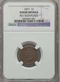 Indian Cents: , 1877 1C -- Reverse Scratched -- NGC Details. Good. NGC Census:(228/1695). PCGS Population (422/2824). Mintage: 852,500. Nu...