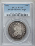 Bust Half Dollars: , 1809 50C III Edge VF20 PCGS. O-109b. PCGS Population (9/140). NGCCensus: (5/251). Numismedia Wsl. Price for problem free ...