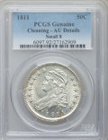 Bust Half Dollars: , 1811 50C Small 8 -- Cleaned -- PCGS Genuine. AU Details. PCGSPopulation (35/204). ...