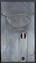 Texas:Early Texas Art - Modernists, CHARLES PEBWORTH (American, b. 1926). Untitled. Metal reliefon wood. 8 x 4-1/4 inches (20.3 x 10.8 cm). Signed middle c...