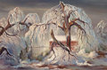 Texas:Early Texas Art - Modernists, CHARLES TAYLOR BOWLING (American, 1891-1985). Ice Storm. Oilon masonite. 16 x 26 inches (40.6 x 66.0 cm). Signed lower ...