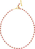 Estate Jewelry:Necklaces, Rhodolite Garnet, Gold Necklace, Cynthia Bach. ...