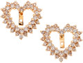 Estate Jewelry:Earrings, Diamond, Gold Earring Jackets. ...