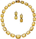 Estate Jewelry:Suites, Victorian Citrine, Gold Jewelry Suite. ... (Total: 3 Items)