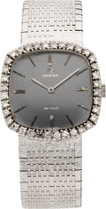 Estate Jewelry:Watches, Omega Lady's Diamond, White Gold DeVille Wristwatch. ...
