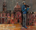 Texas:Early Texas Art - Modernists, HERBERT RICHARD MEARS (American, 1923-1999). StreetViolinist. Oil on canvas. 20 x 24 inches (50.8 x 61.0 cm).Signed lo...