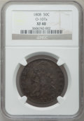 Bust Half Dollars: , 1808 50C XF40 NGC. O-107a. NGC Census: (41/309). PCGS Population(81/325). Mintage: 1,368,600. Numismedia Wsl. Price for pr...