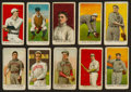 """Baseball Cards:Lots, 1908-1910 """"E"""" Caramel Baseball Card Collection (10) With HoFers...."""