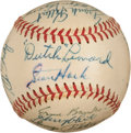 Baseball Collectibles:Balls, 1956 Chicago Cubs Team Signed Baseball (21 Signatures)....