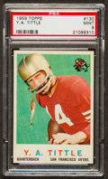 Football Cards:Singles (1950-1959), 1959 Topps Y.A. Tittle #130 PSA Mint 9....