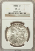Morgan Dollars: , 1900-O $1 MS66 NGC. NGC Census: (965/72). PCGS Population (903/35).Mintage: 12,590,000. Numismedia Wsl. Price for problem ...
