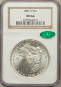 Morgan Dollars: , 1881-S $1 MS66 NGC. CAC. NGC Census: (16014/4153). PCGS Population(12141/1734). Mintage: 12,760,000. Numismedia Wsl. Price...