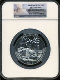 Modern Bullion Coins, 2010 25C Yellowstone Five Ounce Silver Gem Uncirculated NGC....