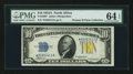 Small Size:World War II Emergency Notes, Fr. 2309* $10 1934A North Africa Silver Certificate. PMG ChoiceUncirculated 64 EPQ.. ...