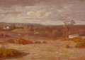 American, JOHN FRANCIS MURPHY (American, 1853-1921). Early Autumn, NewYork. Oil on wood panel. 5-1/2 x 8 inches (14.0 x 20.3 cm)...