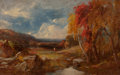 Paintings, WILLIAM M. HART (American, 1823-1894). Reminiscence of Vermont, 1885. Oil on panel. 5-1/2 x 9 inches (14.0 x 22.9 cm). S...