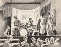 Fine Art - Work on Paper:Print, THOMAS HART BENTON (American, 1889-1975). Minstrel Show,1934. Lithograph. 8-3/4 x 11-1/2 inches (22.2 x 29.2 cm) (image...