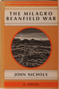 Books:Literature 1900-up, John Nichols. The Milagro Beanfield War. Holt, Rinehart andWinston, 1974. First edition, first printing. Publis...