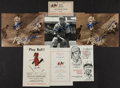 Autographs:Others, St Louis Cardinals Signed Photographs And Vintage Programs....