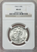 Walking Liberty Half Dollars, (5)1942-S 50C MS65 NGC. Mintage: 12,708,000.... (Total: 5 coins)