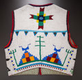 American Indian Art:Beadwork and Quillwork, A CHEYENNE PICTORIAL BEADED HIDE VEST. c. 1950...