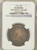 Early Half Dollars, 1795 50C 2 Leaves -- Improperly Cleaned -- NGC Details. VG. O-105,High R.3....