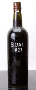 Port/Madeira/Misc Dessert, Madeira 1827 . Boal. no label; wine name painted onto bottle with no producer listed, hcc. Bottle (1). ... (Total: 1 Btl. )