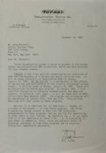 Autographs:Celebrities, Ted Turner Typed Letter Signed. The media mogul has dated theletter 1984. Near fine....
