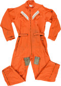 Explorers:Space Exploration, Neil Armstrong Early Orange Flight Suit, with Provenance Letter....