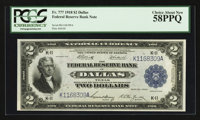 Fr. 777 $2 1918 Federal Reserve Bank Note PCGS Choice About New 58PPQ