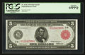 Fr. 833b $5 1914 Red Seal Federal Reserve Note PCGS Gem New 65PPQ