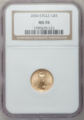 Modern Bullion Coins, 2004 G$5 Tenth-Ounce Gold Eagle MS70 NGC. NGC Census: (3726). PCGSPopulation (240). Numismedia Wsl. Price for problem fre...