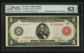 Large Size:Federal Reserve Notes, Fr. 842b $5 1914 Red Seal Federal Reserve Note PMG Choice Uncirculated 63 EPQ.. ...
