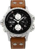Timepieces:Wristwatch, Hamilton Khaki Automatic X-Wind Steel Chronograph . ...