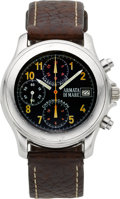 Timepieces:Wristwatch, Armata Di Mare Steel Harrier-Pilot Chronograph. ...