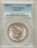 Commemorative Silver: , 1925-S 50C California MS66 PCGS. PCGS Population (310/94). NGCCensus: (416/148). Mintage: 86,394. Numismedia Wsl. Price fo...
